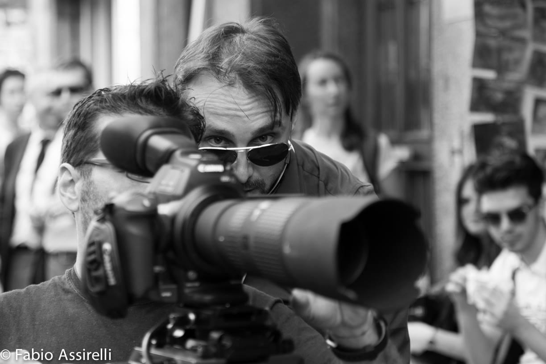 Matteo Piccinini Regista al lavoro per il film Florenza